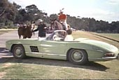 Jerry Lewis im Roadster